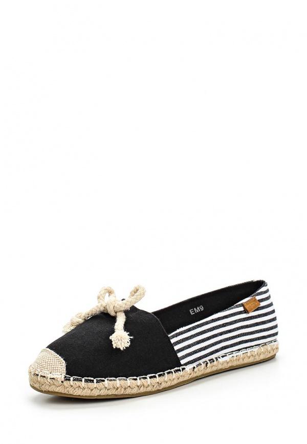 Эспадрильи Girlhood EM9 белые, чёрные