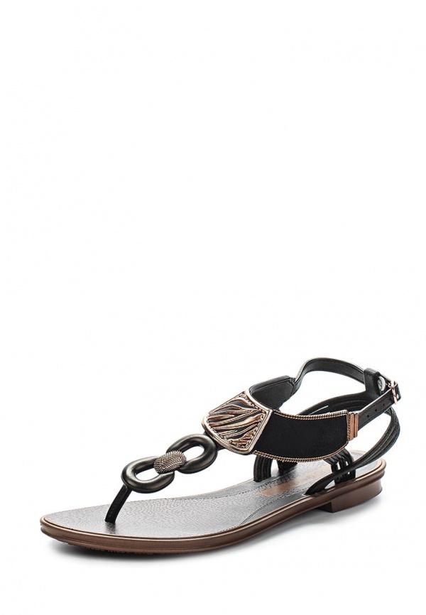 Сандалии Grendha 81647-90142-A коричневые, чёрные
