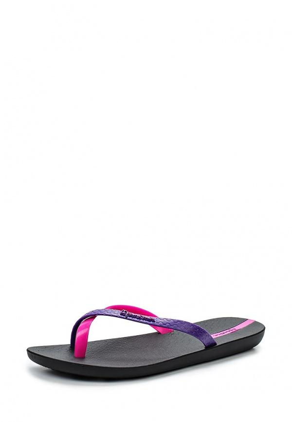 Сланцы Ipanema 81137-23224-A розовые, фиолетовые, чёрные