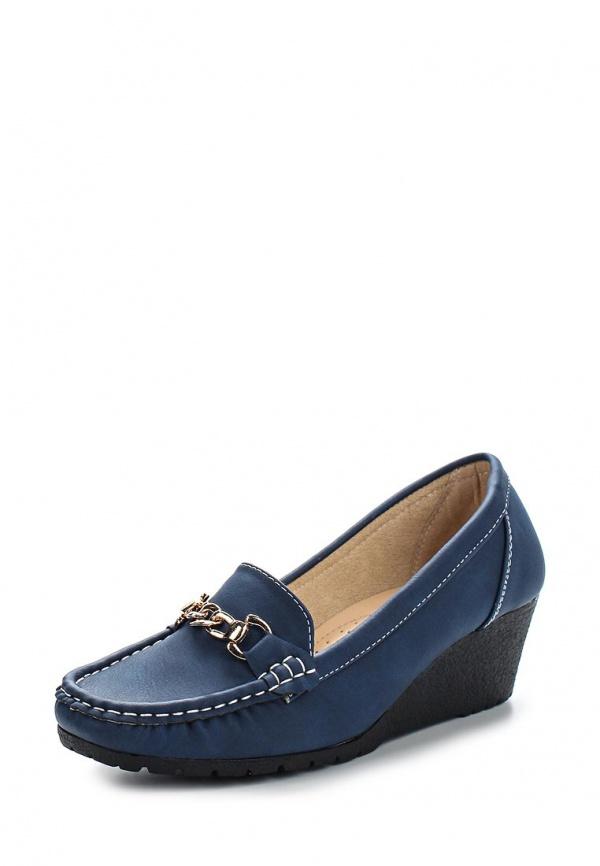 Лоферы на танкетке Max Shoes 555-41 синие