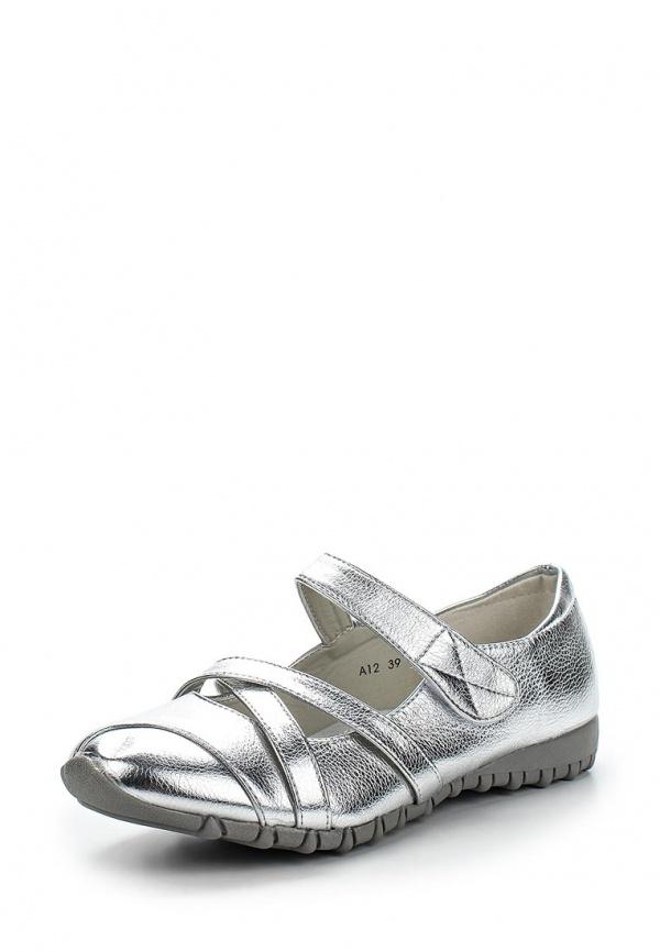 Туфли Max Shoes A12 серебристые