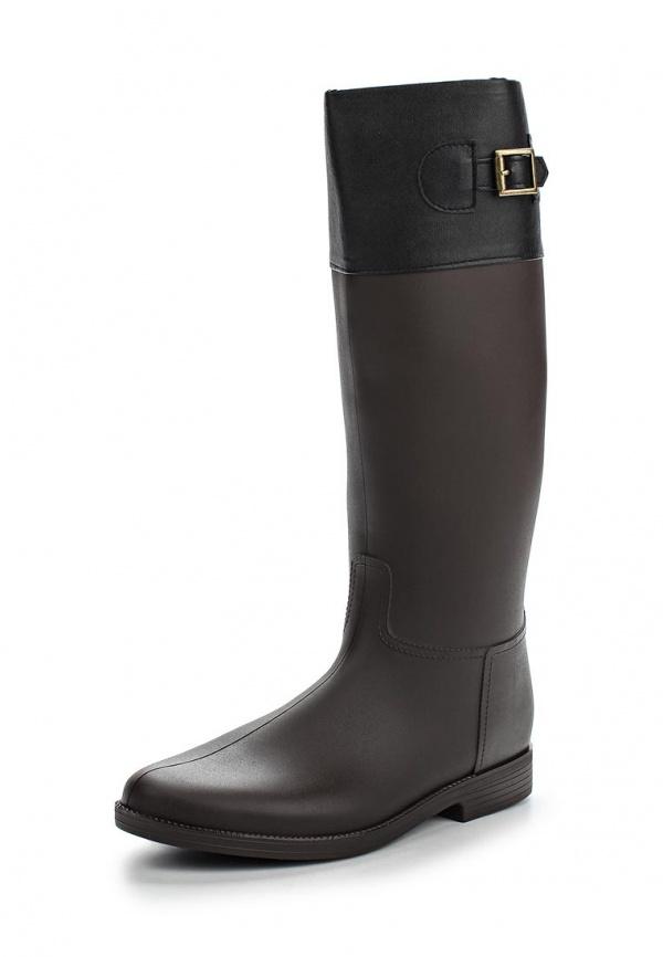 Резиновые сапоги Mon Ami 1513X208K-94 коричневые, чёрные