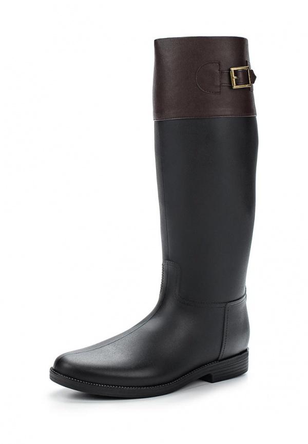 Резиновые сапоги Mon Ami 1513X208K-104 коричневые, чёрные