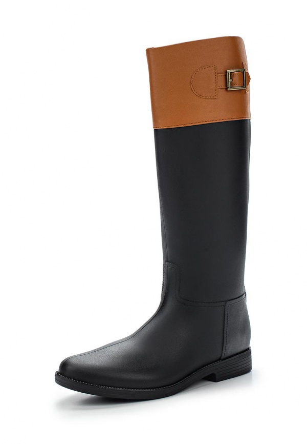 Резиновые сапоги Mon Ami 1513X208K-105 коричневые, чёрные