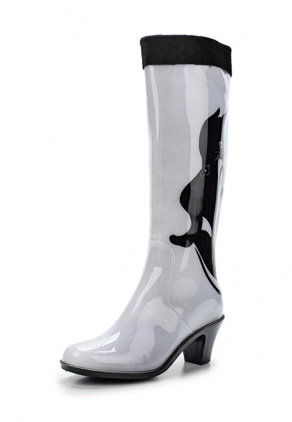 Резиновые сапоги Mon Ami 1513X208K-106 белые, чёрные