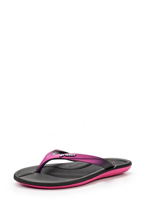 Сланцы Rider 81441-20505-A фиолетовые, чёрные