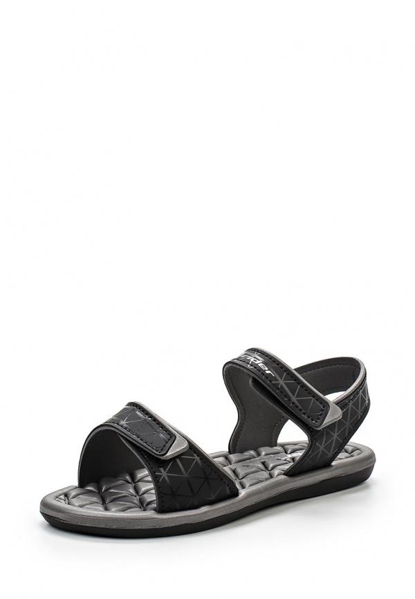 Сандалии Rider 81465-20743-A серые, чёрные