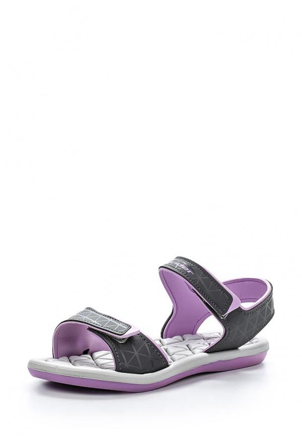 Сандалии Rider 81465-22183-A серые, фиолетовые