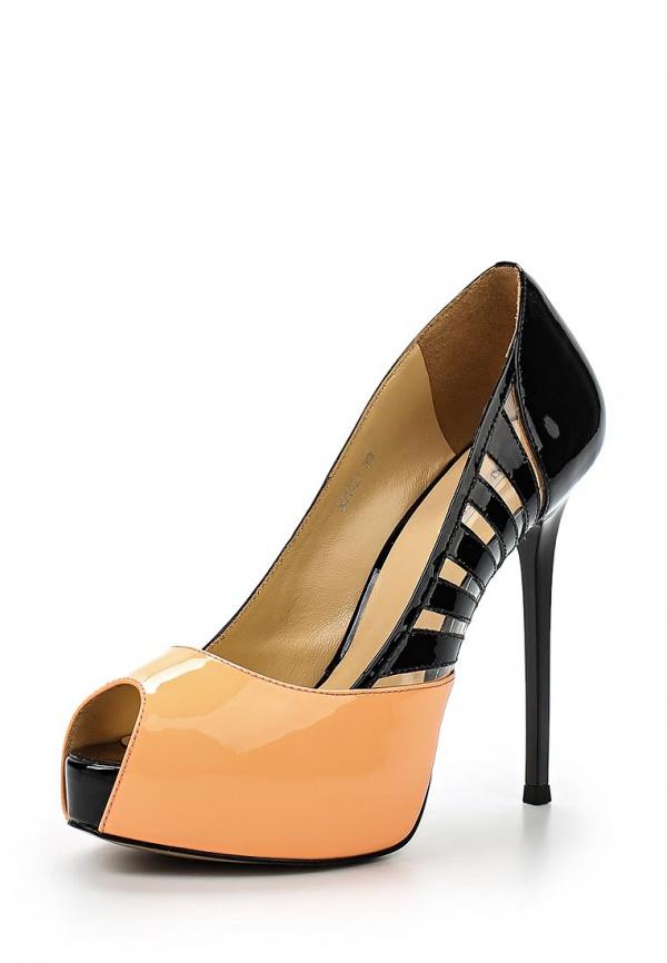 Туфли Vitacci 501421 оранжевые, чёрные
