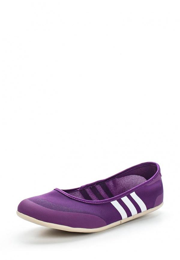 Балетки adidas Neo F97967 фиолетовые