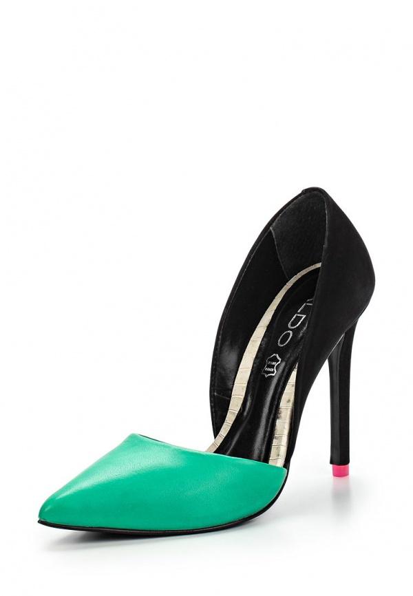 Лоферы Aldo PREMIER зеленые, чёрные