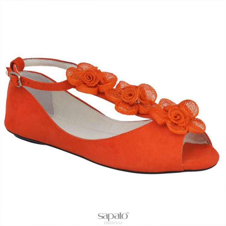 Босоножки Vitacci 111057 Босоножки женские натуральная замша оранжевые