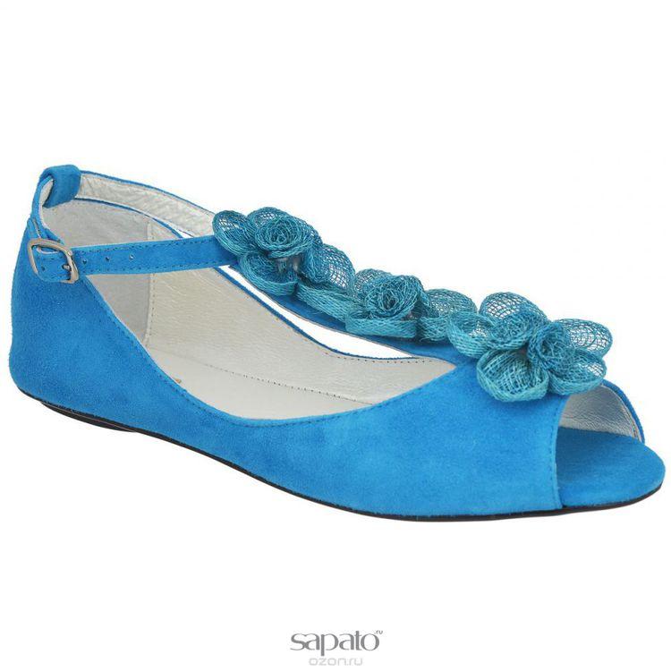 Босоножки Vitacci 111059 Босоножки женские натуральная замша синие