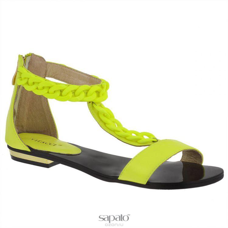 Сандалии Vitacci 11885 Сандалии женские натуральная кожа зеленые