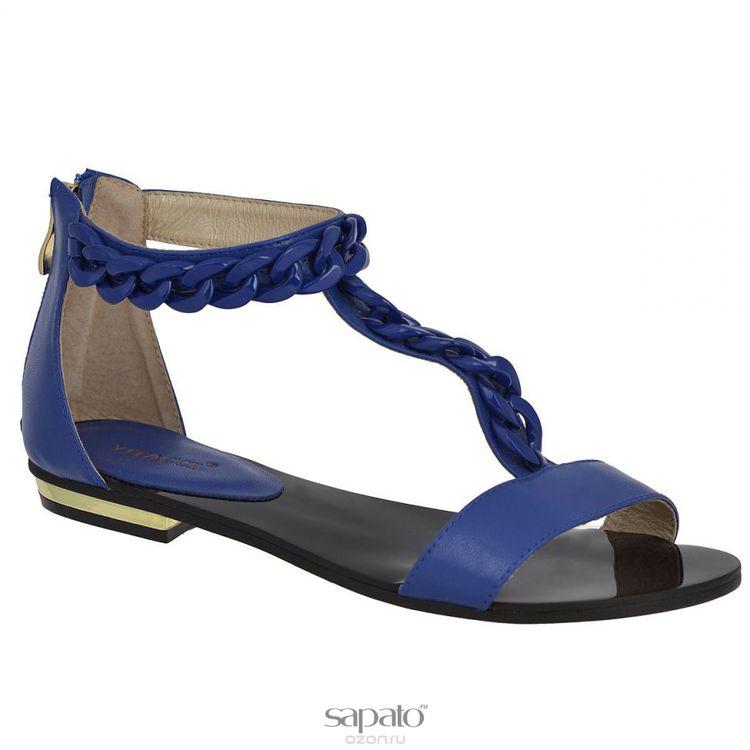 Сандалии Vitacci 11887 Сандалии женские натуральная кожа синие