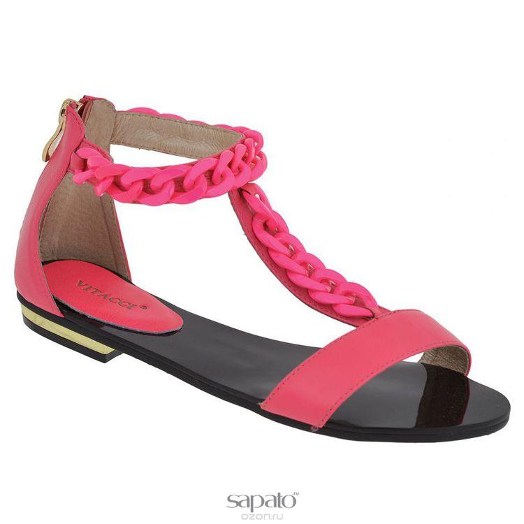 Сандалии Vitacci 11886 Сандалии женские натуральная кожа розовые