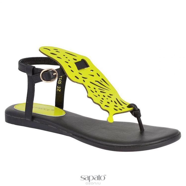 Сандалии Vitacci 111145 Сандалии женские натуральный лак жёлтые