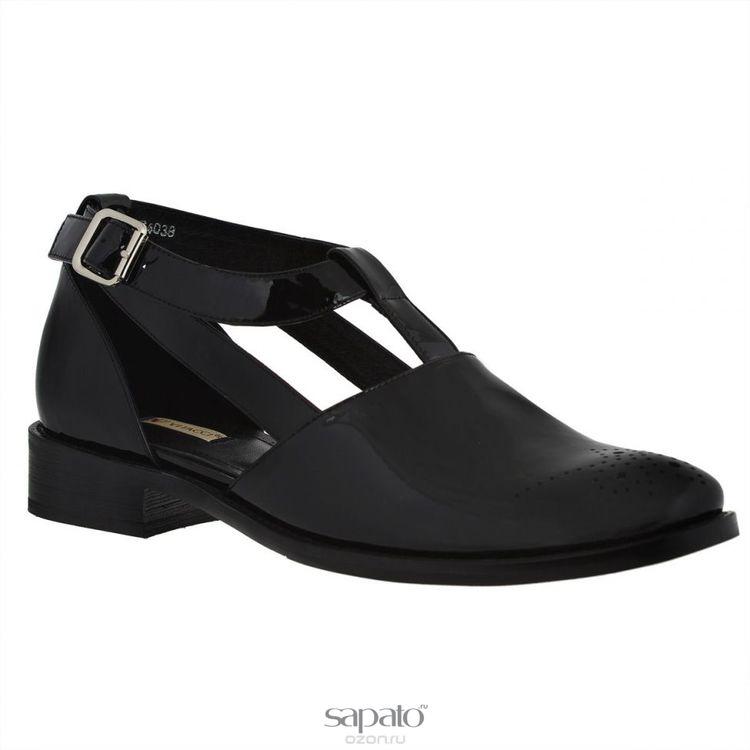Туфли Vitacci 74038 Туфли женские натуральный лак чёрные