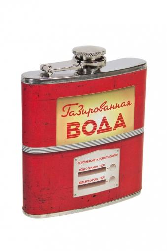 """Термокружки и стаканы для чая/кофе Красный куб Фляжка для напитков """"Газированная вода"""""""