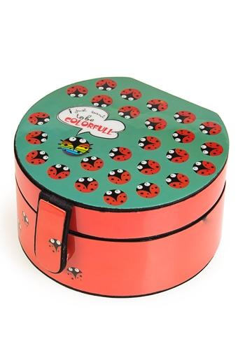 """Шкатулки для украшений Красный куб Шкатулка для ювел. украш. """"Божьи коровки"""""""