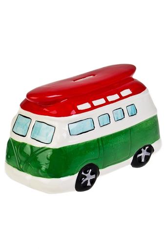 """Копилки и сейфы Красный куб Копилка """"Автобус в Италию"""""""