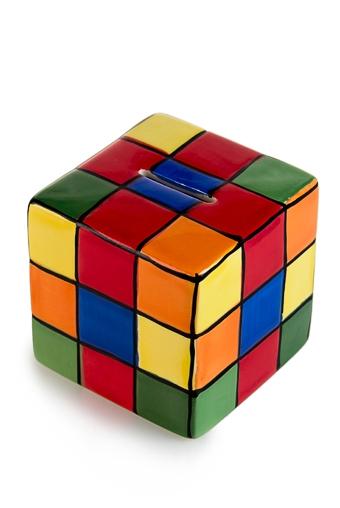 """Копилки и сейфы Красный куб Копилка """"Кубик Рубика"""""""