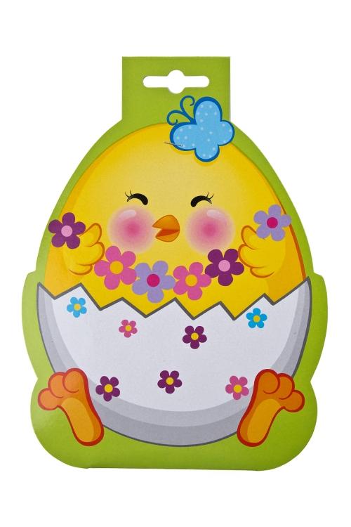 """Наклейки и аппликации Красный куб Набор термонаклеек для яиц """"Пасхальный цыпленок"""""""