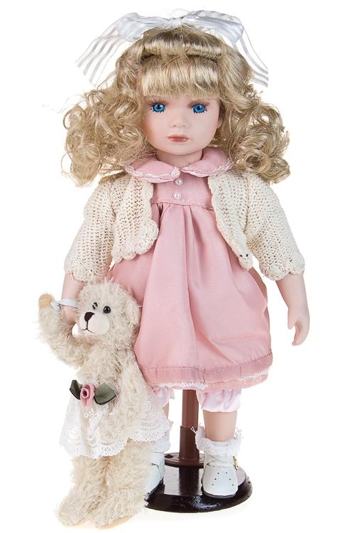 """Фарфоровые куклы Красный куб Кукла """"Замечательная Бэтти с мишенькой"""""""