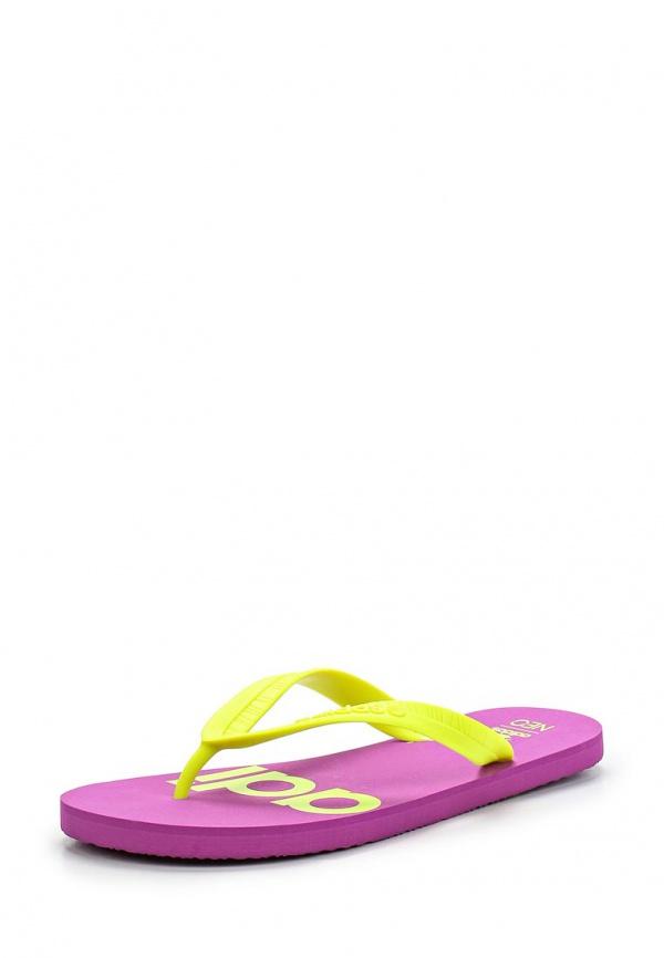 Сланцы adidas Neo F97707 жёлтые, фиолетовые
