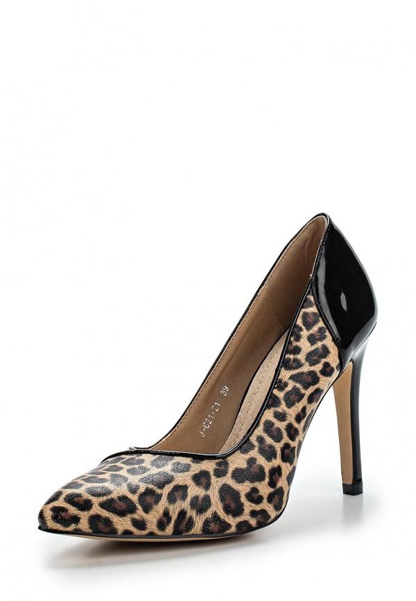Туфли Vivian Royal J-021-21 коричневые, чёрные