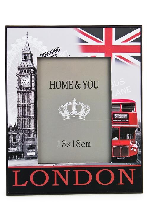 """Деревянные фоторамки Красный куб Рамка для фото """"Улицы Лондона"""""""
