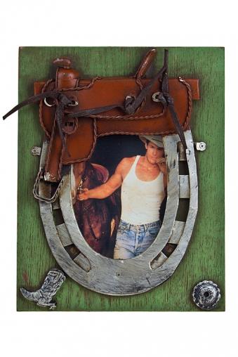 """Деревянные фоторамки Красный куб Рамка для фото """"Настоящий ковбой"""""""