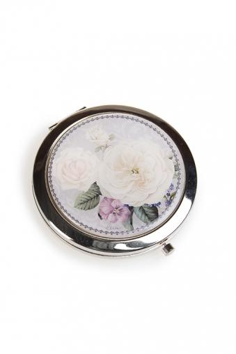 """Сувениры для женщин Красный куб Зеркало двойное """"Английские розы"""""""