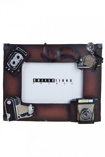 """Пластиковые фоторамки Красный куб Рамка для фото """"Фотоаппараты"""""""
