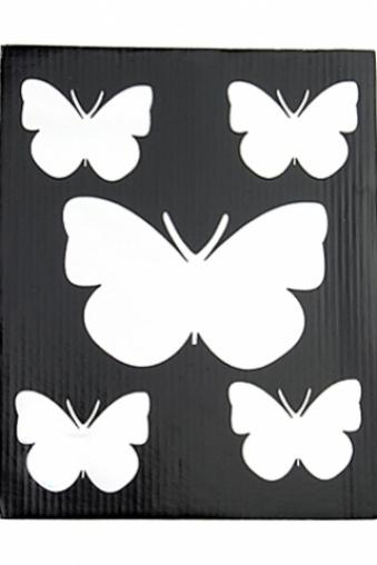 """Наклейки и аппликации Красный куб Набор аппликаций """"Бабочки-белянки"""""""