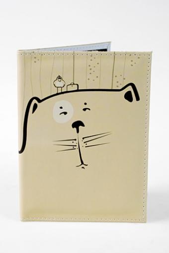 """Обложки для паспорта Красный куб Обложка для паспорта """"Добрый кот"""""""
