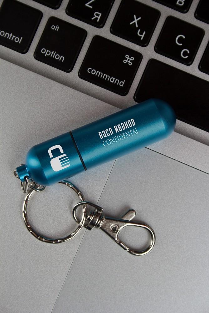 """Подарки папе Красный куб USB-флешка с вашим текстом """"Под надежной охраной"""""""