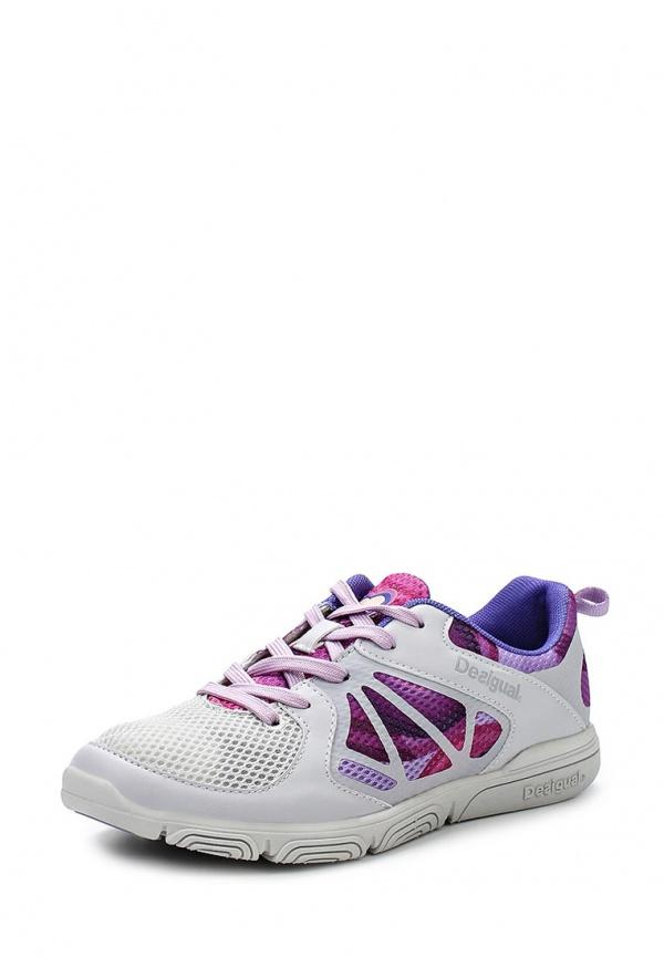 Кроссовки Desigual 51DS2A0 белые, фиолетовые
