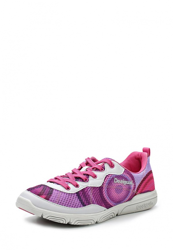 Кроссовки Desigual 50DS2A1 белые, фиолетовые