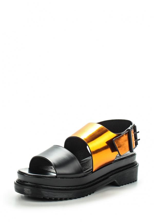 Босоножки Topshop 32F08HMUL оранжевые, чёрные
