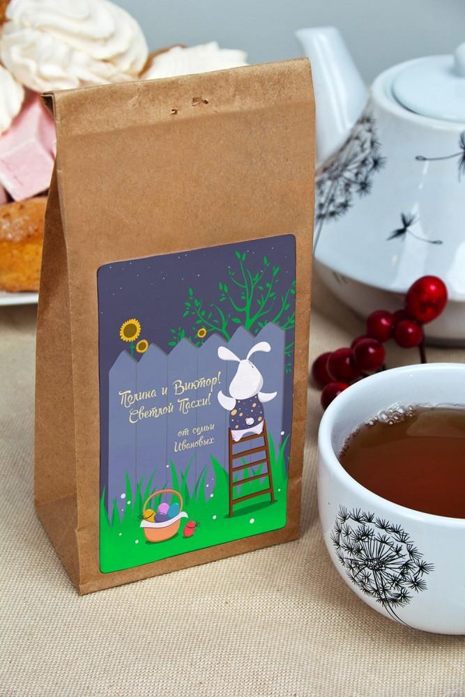 """Оригинальные и Необычные подарки Красный куб Сувенир """"Чай черный"""" """"Послание на Пасху"""""""