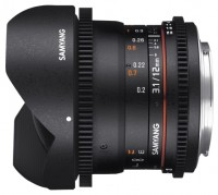 Samyang 12mm T3.1 ED AS NCS VDSLR Fish-eye Canon M
