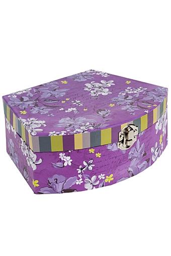 """Шкатулки для украшений Красный куб Шкатулка для ювелирных украшений """"Сиреневый сад"""""""