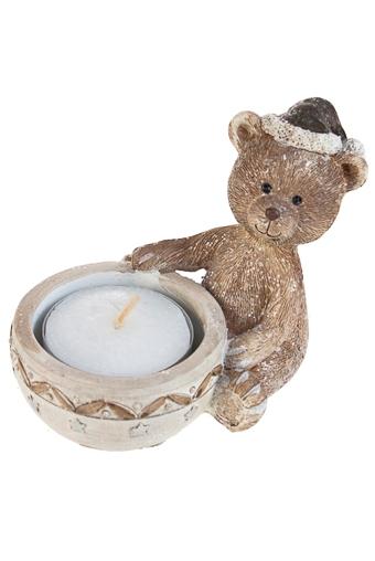 """Подсвечники Красный куб Подсвечник для свечи-таблетки """"Медвежонок"""""""
