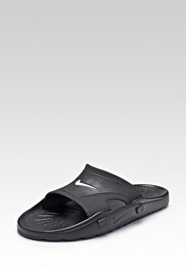 Сланцы Nike 810013-011 белые, чёрные