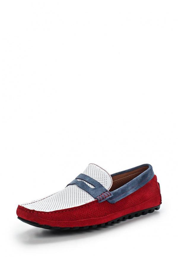 Мокасины Vera Victoria Vito 9-5124-20 белые, голубые, красный