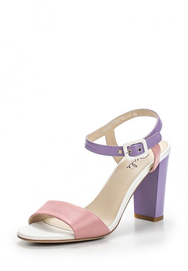 Босоножки Dali 144-1101-17/21/10-1-3 белые, розовые, фиолетовый