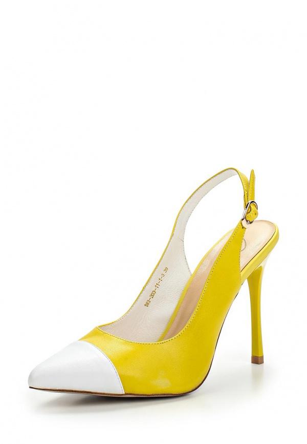 Туфли Dali 183-203-11-1-3 белые, жёлтые