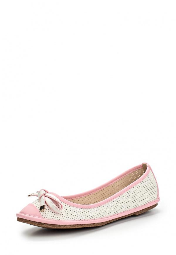 Балетки Wilmar 51-SE-02 B белые, розовые