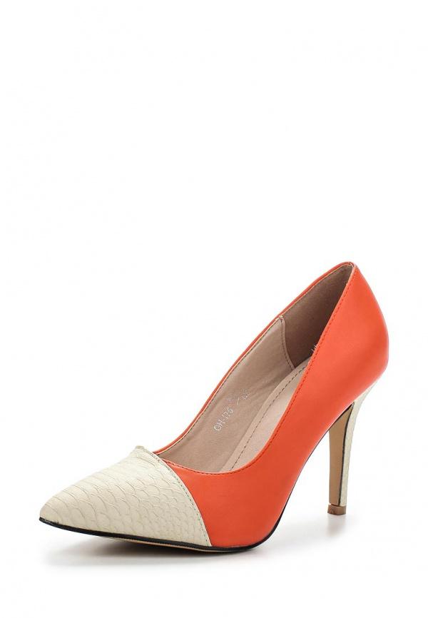 Туфли Sergio Todzi GH175 белые, оранжевые